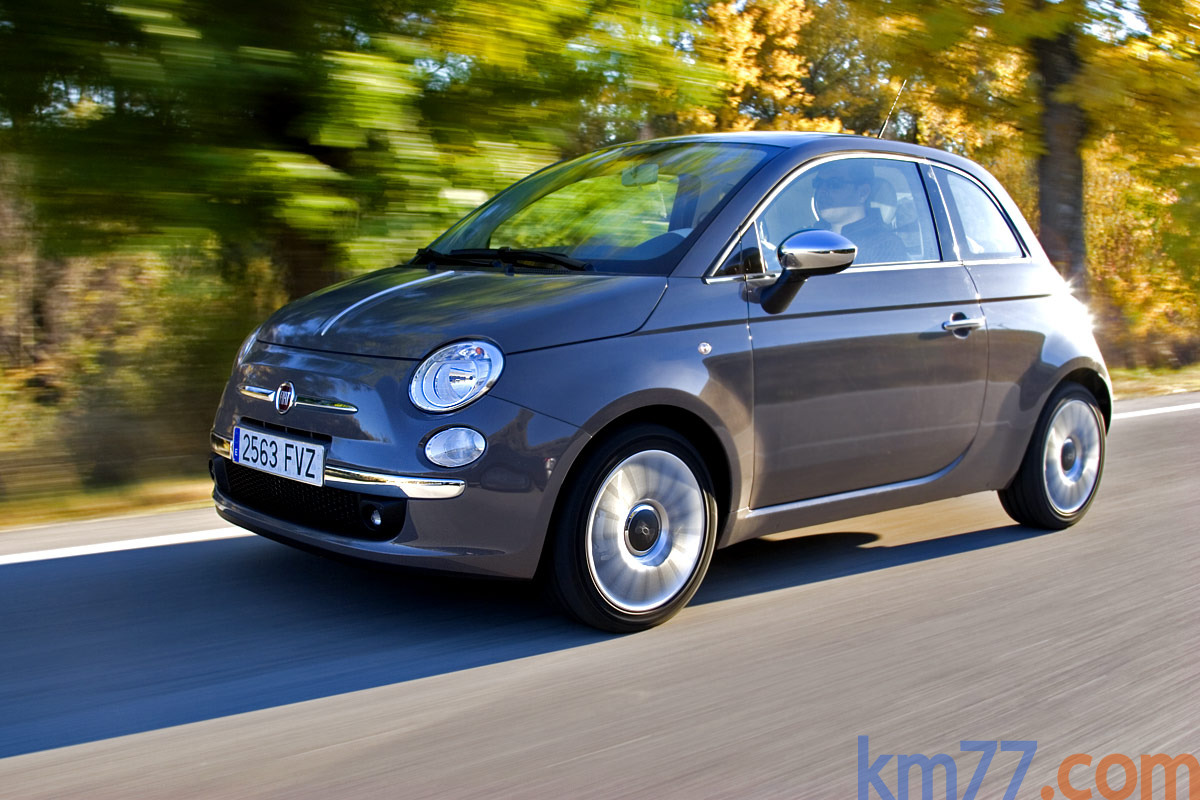 Fiat 500 1.4 16V 100 CV Lounge Turismo Gris breakbeat Exterior Lateral ...