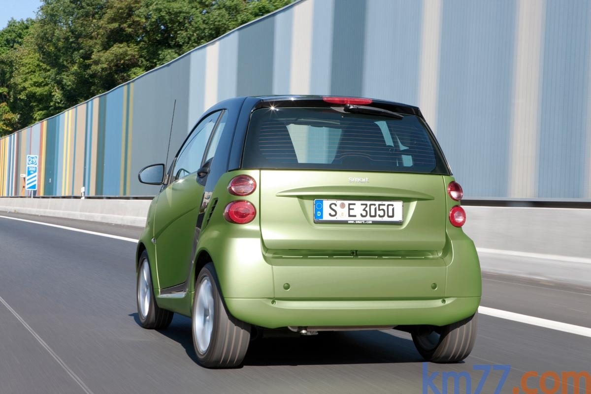 smart fortwo 40 cdi pulse Turismo Matt Light Green Exterior Lateral-Posterior 2 puertas