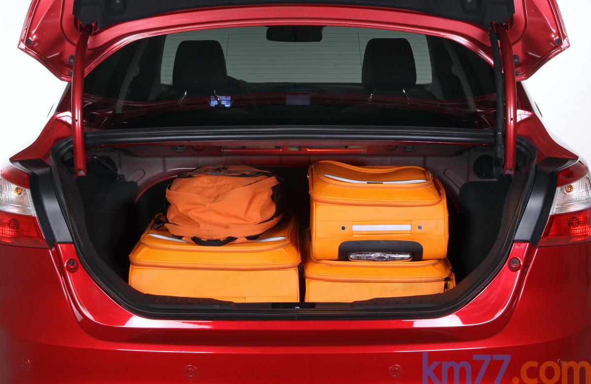 Capacidad maletero ford focus