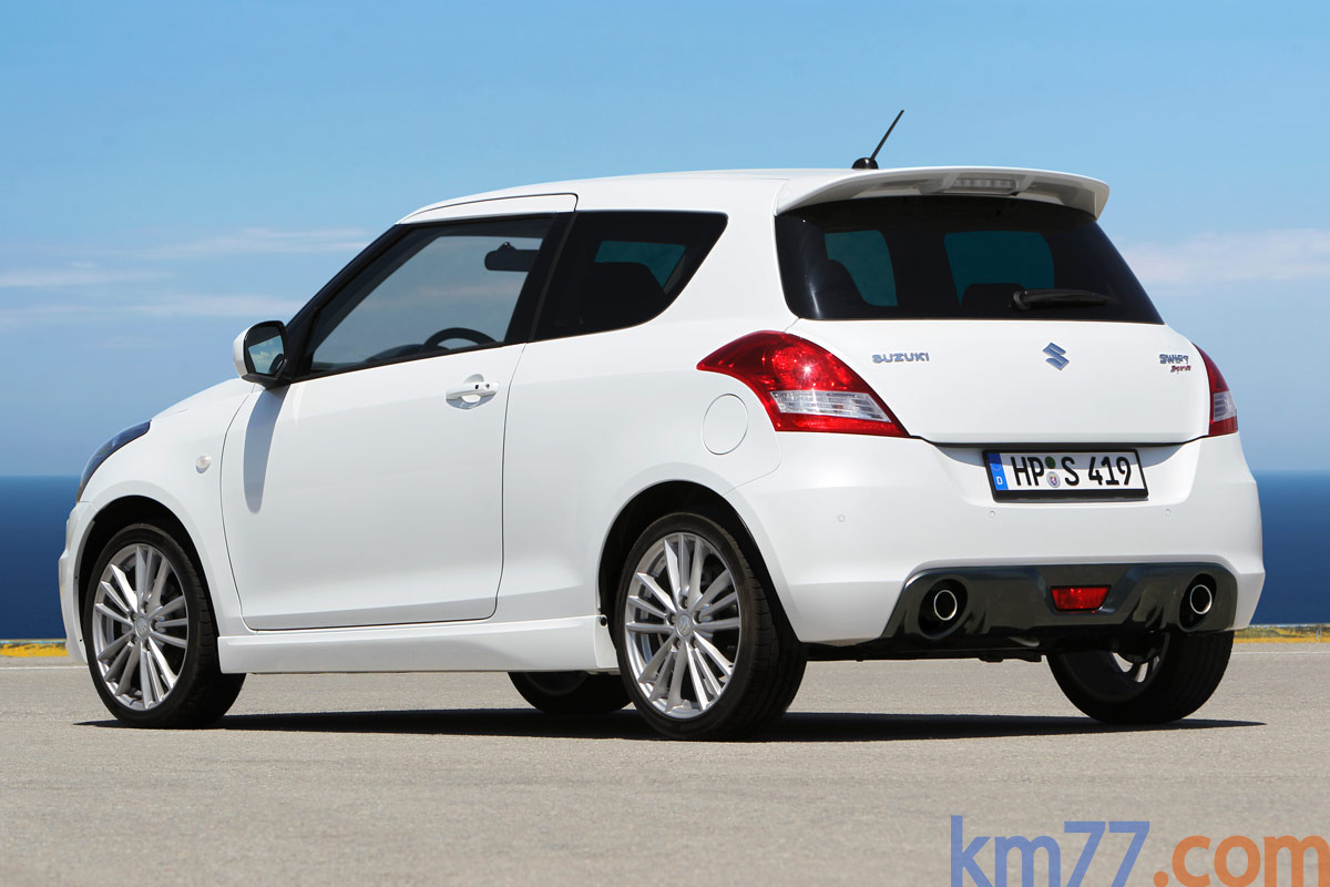 Suzuki Swift Sport Sport Turismo Blanco Perlado Exterior Lateral-Posterior 3 puertas
