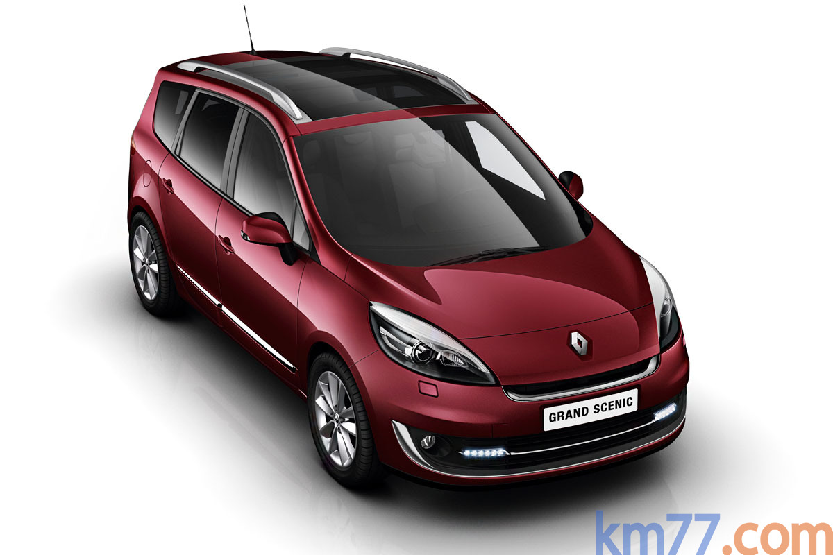 Renault Grand Scénic Gama Grand Scénic Gama Grand Scénic Monovolumen Rojo Granate Exterior Lateral-Frontal 5 puertas