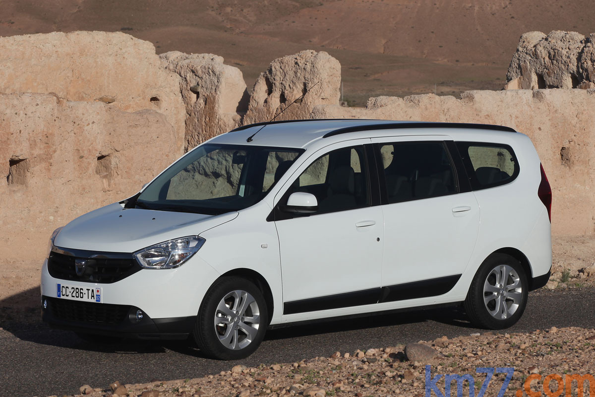 Dacia Lodgy Gama Lodgy Gama Lodgy Monovolumen Blanco Glaciar Exterior Lateral 5 puertas
