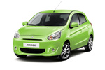 Mitsubishi Mirage Gama Mirage Gama Mirage Turismo Exterior Frontal-Lateral 5 puertas