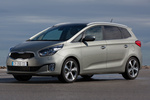 KIA Carens 1.7 CRDi 136 CV Gama Carens Monovolumen Brilliantsilber Metallic Exterior Frontal-Lateral 5 puertas