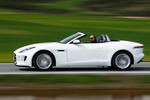 Jaguar F-Type V6 3.0 340 CV V6 Descapotable Polaris White Exterior Lateral 2 puertas