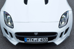 Jaguar F-Type V6 3.0 340 CV V6 Descapotable Polaris White Exterior Frontal-Cenital 2 puertas