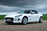 Jaguar F-Type V6 3.0 340 CV V6 Descapotable Polaris White Exterior Frontal-Lateral 2 puertas